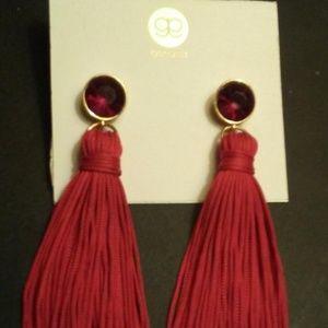 Gorjana Red Tassel Earrings